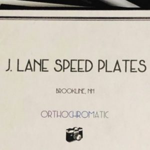 Jason Lane Speed Plates Orthochromatisch ASA 25