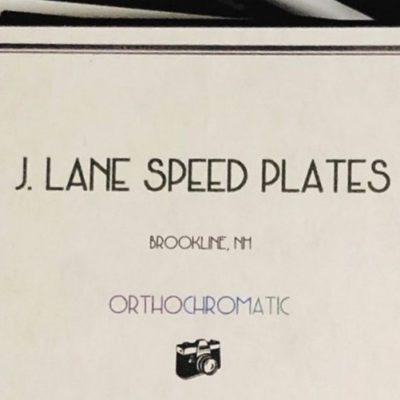 Jason Lane Speed Plates Orthochromatisch ASA 25