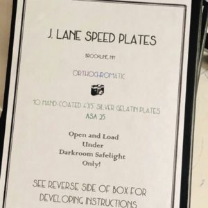 Jason Lane Speed Plates 4″x5″ Orthochromatic ASA 25