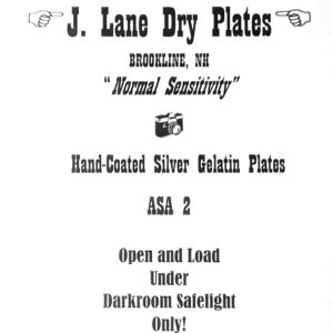 Jason Lane Trocken-Glasplatten ASA 2