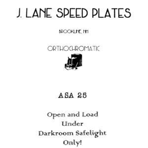 Jason Lane Speed Plates Orthochromatic ASA 25