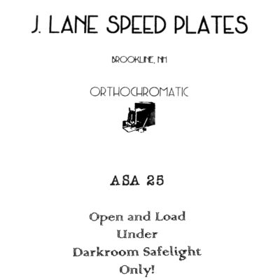 Jason Lane Speed Plates Orthochromatic ASA 25